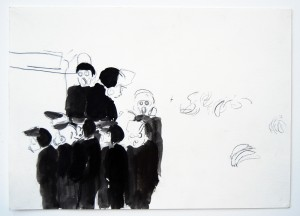 Untitled, 23 x 17 cm, pencil, acrylic on paper, 2009