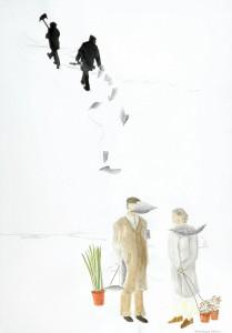 Groengewaspraktijken, 70 x 95 cm, pencil, acrylic on paper, 2006